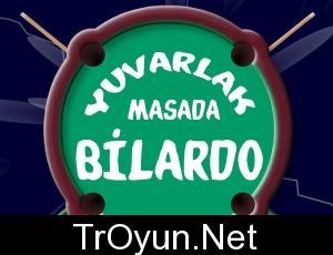 Yuvarlak Masada Bilardo oyna Oyunu